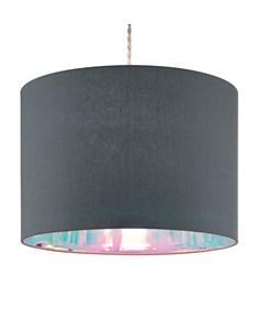 Dessi Pendant Shade - Grey | Iridescent Inner Ceiling Shade