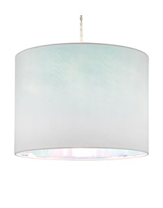 Dessi Pendant Shade - White | Iridescent Inner Ceiling Shade