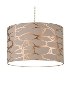 Keira Pendant Shade Grey | Rose Gold | Metallic Pattern Ceiling Shade