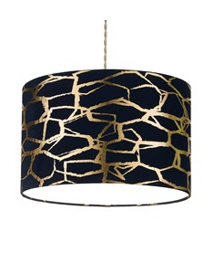 Keira Pendant Shade Navy | Gold | Metallic Pattern Ceiling Shade
