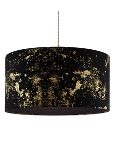 Frankie Pendant Shade - Black | Gold | Large Stylish Ceiling Shade