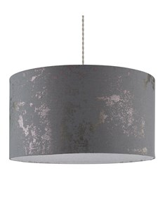 Frankie Pendant Shade - Grey | Silver | Large Stylish Ceiling Shade