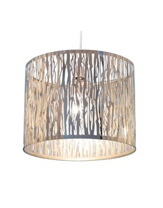 Donez Pendant Shade - Chrome | Laser Cut Ceiling Shade