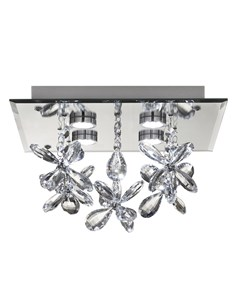 Verity LED Ceiling Fitting | Semi Flush Crystal LED Ceiling Light