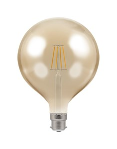 LED Large Globe Filament Bulb BC-B22d - Antique Bronze | Fashion Bulb