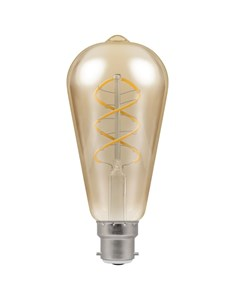LED Spiral Filament Bulb BC-B22d - Antique Bronze | Fashion Bulb