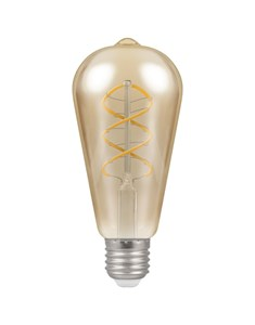 LED Spiral Filament Bulb ES-E27 - Antique Bronze | Fashion Bulb
