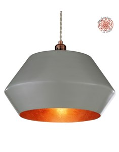 Thomas Pendant Shade | Copper & Grey Ceiling Shade