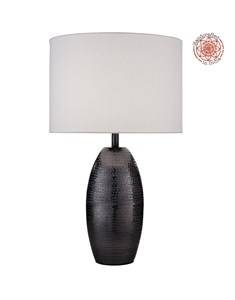 Darsha Table Lamp - Blackened Nickel | Metal Hand Hammered Table Lamp
