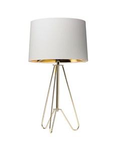 Ziggy Gold Lamp With Cream Shade | Metallic Tripod Table Lamp