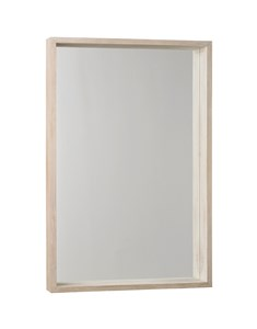 New England Rectangular Mirror | Wooden white wash framed rectangular mirror