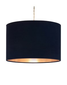 Velvie Pendant Shade Navy | Copper | Metallic Inner Ceiling Shade