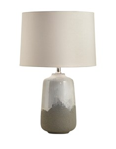 Noah Table Lamp | Ceramic Grey Table Lamp