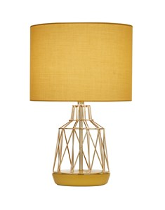 Macaron Table Lamp Ochre | Gold Wire Table Lamp