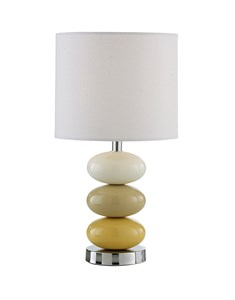 Esme Table Lamp - Ochre | Bright Ceramic Pebble Lamp