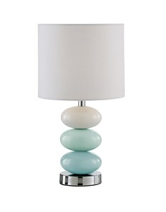 Esme Table Lamp - Duck Egg | Bright Ceramic Pebble Lamp