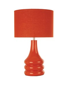 Raj Table Lamp - Burnt Orange | Bright Ceramic Table Lamp