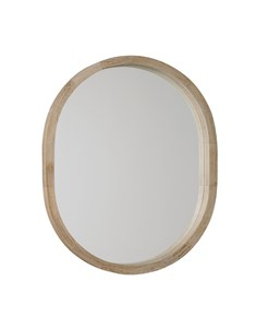 New England Oval Mirror | Wooden white wash framed oval mirror
