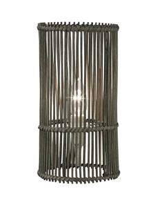Erlina Table Lamp - Grey | Rattan Weave Table Lamp