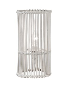 Erlina Table Lamp - White | Rattan Weave Table Lamp