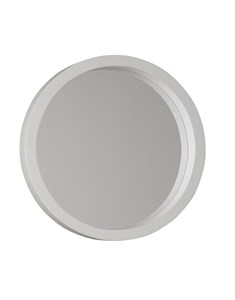 New England Round White Painted Mirror | A wooden white was painted frame round mirror