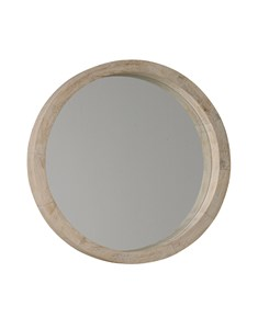 New England Round White Wash Mirror | Wooden white wash and white painted frame round mirrors