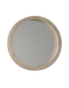 New England Round White Wash Mirror | Wooden white wash and white painted frame round mirrors
