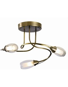 Iris 3 Light Ceiling Fitting - Antique Brass | Multi Light Fitting