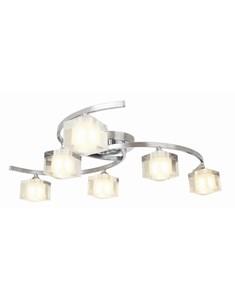 Ice 6 Light Ceiling Fitting - Chrome | Modern Multi Light Fitting