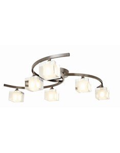 Ice 6 Light Ceiling Fitting - Pewter | Modern Multi Light Fitting