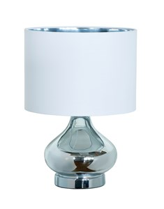 Clarissa Table Lamp - Chrome | Metallic Glass Table Lamp