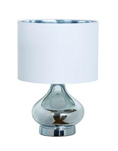 Clarissa Table Lamp - Chrome | Metallic Glass Table Lamp