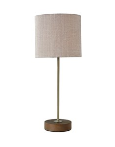 Bliss Table Lamp | Antique Brass Stick Table Lamp