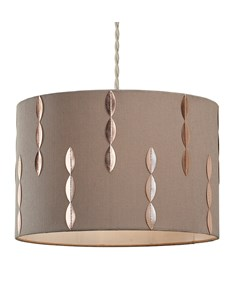 Louie Pendant Shade - Beige | Copper | Stylish Cylinder Ceiling Shade