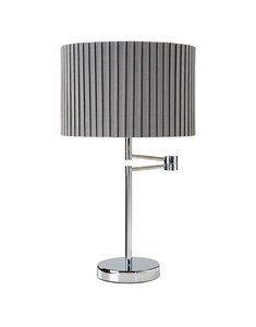 Fenella Table Lamp - Chrome | Grey | Swing Arm Metal Table Lamp