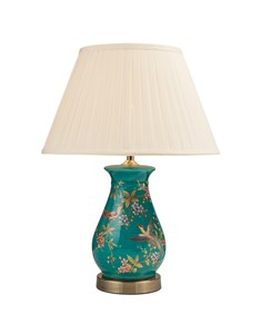 Lydia Table Lamp Base | Teal & Gold Lamp Base