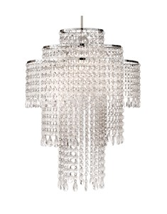 Tiered Acrylic Chandelier Shade