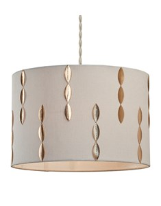 Louie Pendant Shade - Cream | Gold | Stylish Cylinder Ceiling Shade