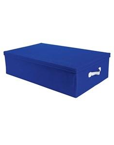Underbed Storage Box - Blue | Fabric Lidded Flatpack Storage