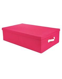 Underbed Storage Box - Pink | Fabric Lidded Flatpack Storage