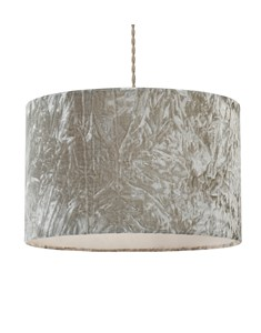 Allura Pendant Shade - Grey | Crushed Velvet Ceiling Shade