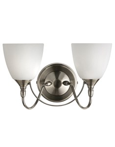 Chrome Wall Light With Frosted Glass Shades