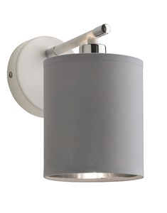 Giovanna Wall Light Fitting - White | Chrome | Grey | Modern Metallic Wall Light