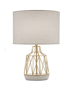 Macaron Table Lamp White | Gold Wire Table Lamp