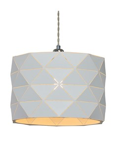 Shadow Pendant Shade - White | Geometric Metal Ceiling Shade