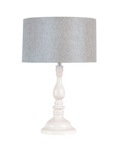 Roma Table Lamp with Grey Shade | Traditional Large Table Lamp