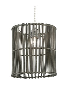 Erlina Pendant Shade - Grey | Rattan Ceiling Shade