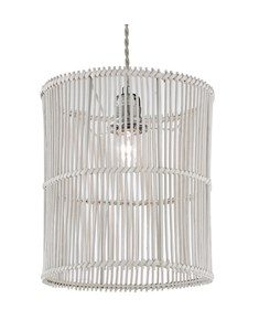 Erlina Pendant Shade - White | Rattan Ceiling Shade