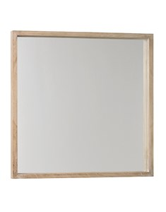 New England Square Mirror | Wooden white wash framed square mirror