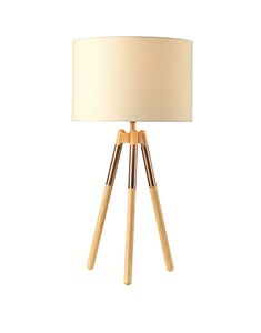 Ely Table Lamp - Bronze | Tripod Wooden Table Lamp